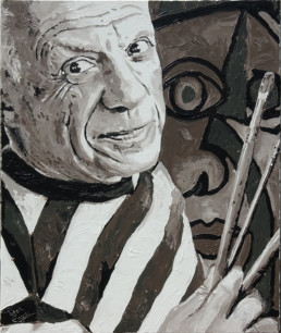 Pablo Picasso painting Dora Maar by Peter Engels