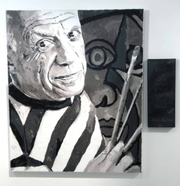Gallery Never Give Up: Pablo Picasso portrait painting by Peter Engels