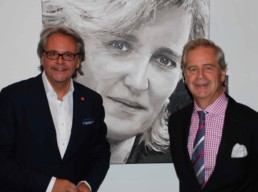 The Princess Astrid portrait painting by Peter Engels with Philip Heylen and Guy Vandooselaere