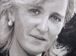 Princess Astrid portrait painting by Peter Engels
