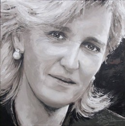 Princess Astrid portrait painting by Peter Engels