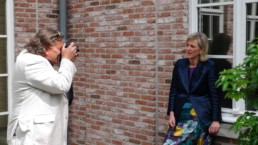 Peter Engels makes photos of Princess Astrid in her home in Laken (Brussels)