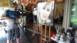 Princess Astrid portrait painting by Peter Engels filmed for the tv show 'Royalty'