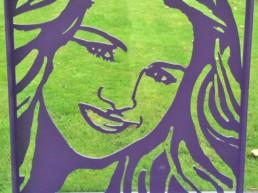 Jordan Royal Queen Rania sculpture by artist Peter Engels