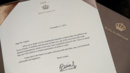 The letter that Royal Jordan Queen rania sent to Peter Engels