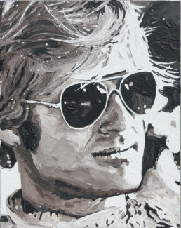 Robert Redford portrait painting by Peter Engels