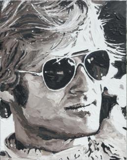 Robert Redford portrait painting by Peter Engels