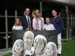 Serrien family commission portrait painting by Peter Engels