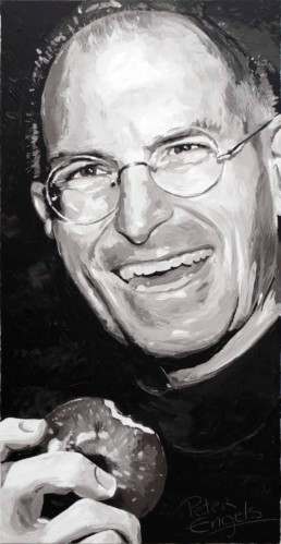 Steve Jobs-painting by Peter Engels