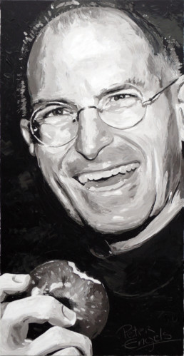 Steve Jobs portrait painting by Peter Engels