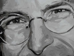 Steve Jobs portrait painting by Peter Engels