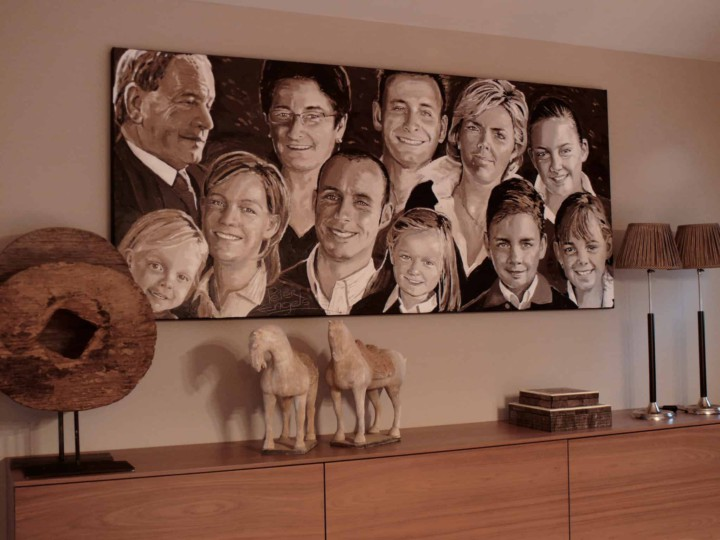 Family portrait painting by Peter Engels