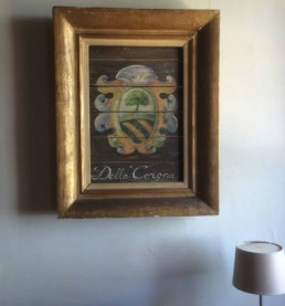 Bastia Corgna Family Crest painting by Peter Engels