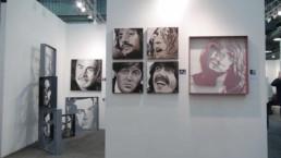 portrait painting Beatles, Sean Connery, sculptures James Bond, Brigitte Bardot.