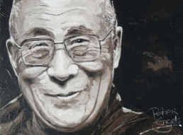 Dalai Lama portrait painting by Peter Engels