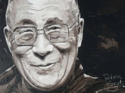 Dalai Lama portrait painting by Peter Engels
