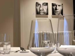 Denzel Washington and Jason Staham-portrait painting by Peter Engels