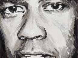 Denzel Washington portrait painting by Peter Engels