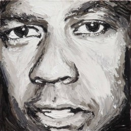 Denzel Washington portrait painting by Peter Engels