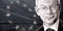 Herman Van Rompuy portrait painting by Peter Engels