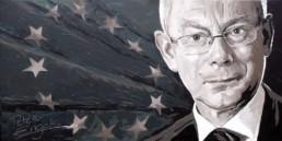 Herman Van Rompuy portrait painting by Peter Engels