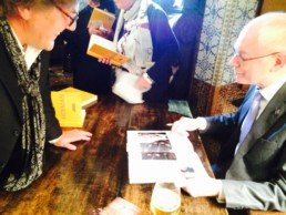 Herman Van Rompuy receives a signed copy of Peter Engels' book