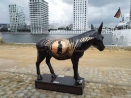 James Bond Donkey by artist Peter Engels, Donkey Parade, art for charity