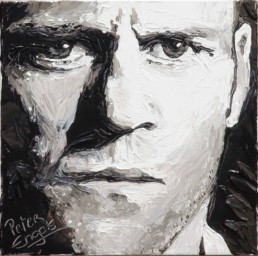Jason Statham portrait painting by Peter Engels
