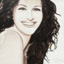 Julia Roberts portrait painting by Peter Engels
