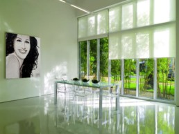 Contemporary interior with the Julia Roberts portrait painting by Peter Engels