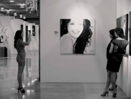 Julia Roberts portrait painting by Peter Engels on Art Basel Miami