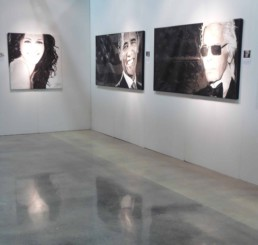 Julia Roberts portrait painting by Peter Engels at Art Basel Miami
