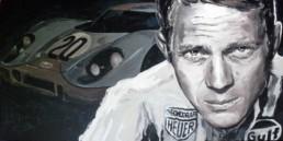 Steve McQueen-LeMans-Portrait painting by Peter Engels