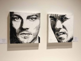 Leonardo DiCaprio-Mark Wahlberg-portrait painting by Peter Engels