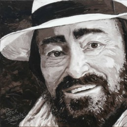 Luciano Pavarotti painted by Peter Engels