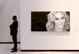 Exhibition of the Madonna portrait painting by Peter Engels