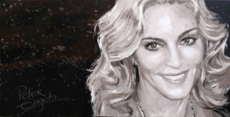 Madonna painted portrait by Peter Engels
