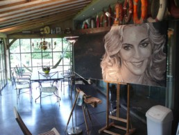 Madonna portrait painting in Peter Engels' atelier