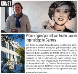 Press article-Estée Lauder portrait painting by Peter Engels