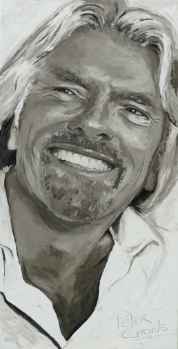 Richard Branson portrait painting by Peter Engels