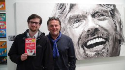 At the New York exhibition this Richard Branson portrait painting by Peter Engels was very loved