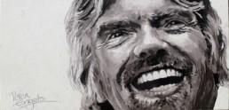 Richard Branson wide portrait painting by Peter Engels