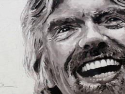 Richard Branson wide portrait painting by Peter Engels