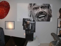 Richard Branson portrait painting at the Paris art fair FIAC