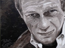 Steve McQueen-painting by Peter Engels