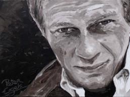 Steve McQueen-painting by Peter Engels