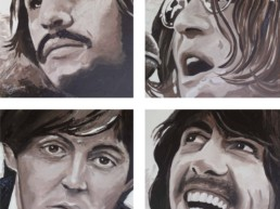 The Beatles portrait painting by Peter Engels