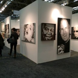 Exhibition in New York. Waterfall portrait painting by Peter Engels