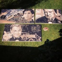 Ayrton Senna, Winston Churchill, Leonardo Di Cabrio by Peter Engels