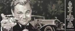 Leonardo DiCaprio portrait painting by Peter Engels